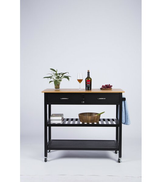 Bargain Langlois Kitchen Cart With Bamboo Top By Red Barrel Studio 2019 Sale