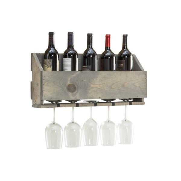 Amaryllis 6 Bottle Wall Mounted Wine Rack by Millwood Pines