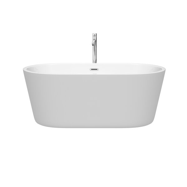 Carissa 60 x 32 Freestanding Soaking Bathtub by Wyndham Collection