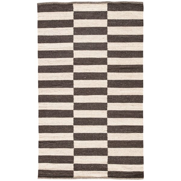 Campbelltown Ivory & Black Area Rug by Wrought Studio
