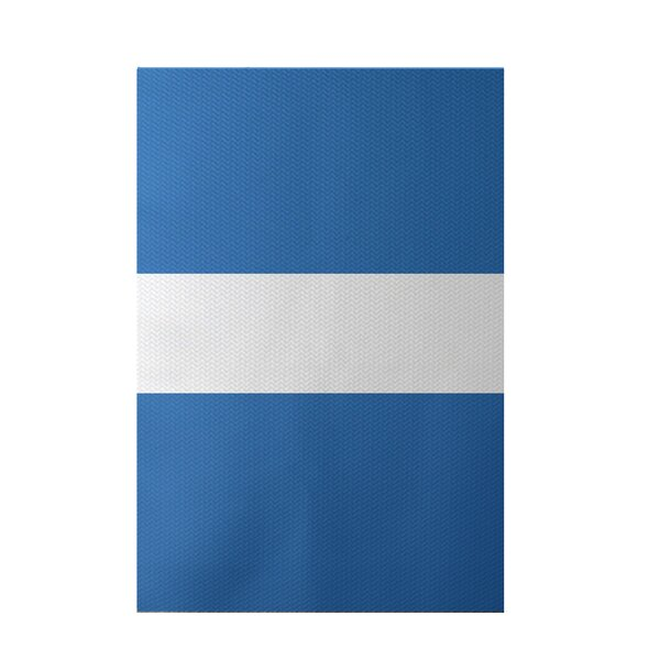 Narrow the Gap Stripe Print Azure Indoor/Outdoor Area Rug by e by design
