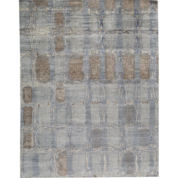 One-of-a-Kind Hand-Knotted Gray 12' x 15' Area Rug