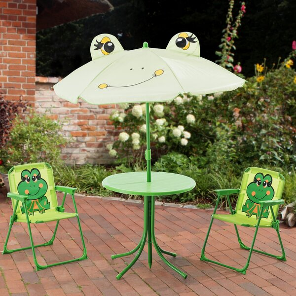 Myah Frog Kids 4 Piece Writing Table and Chair Set by Zoomie Kids