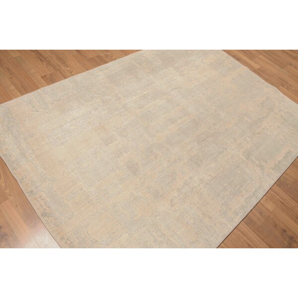One-of-a-Kind McCarney Hand-Knotted Wool Gray Area Rug by August Grove