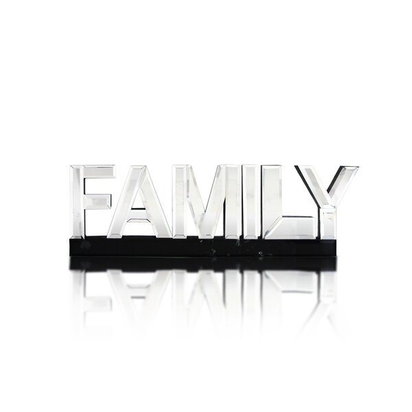 Family Word Art Accent Mirror by Design Guild