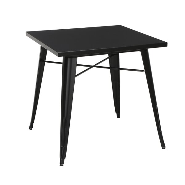 Vickers Stainless Steel Dining Table by 17 Stories