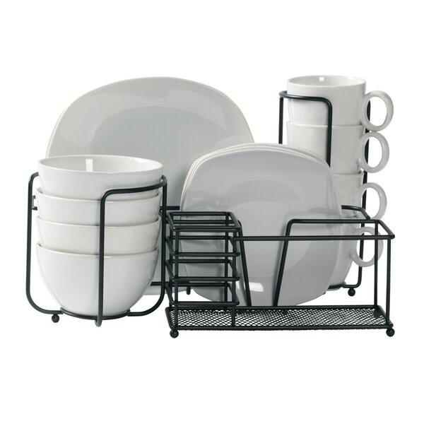 Aurelio Square 17 Piece Dinnerware Set, Service for 4 by Ebern Designs
