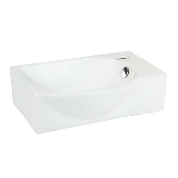 Left-Facing Ceramic 16'' Wall-Mount Bathroom Sink by Elanti