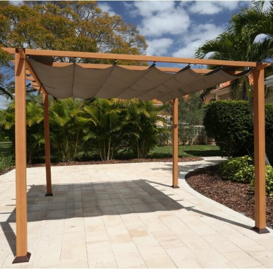 11 Ft. W x 11 Ft. D Metal Pergola by Paragon-Outdoor