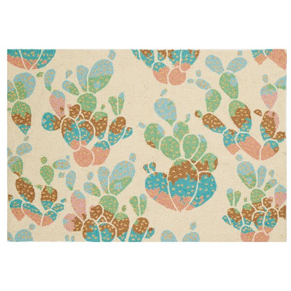 Cactus Hook Hand-Woven Ivory/Green Area Rug by Bonnie Christine