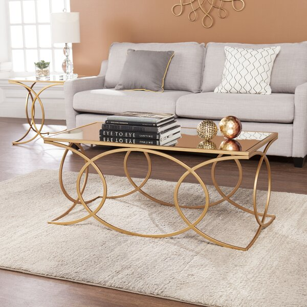Melina Geometric 2 Piece Coffee Table Set by Everly Quinn Everly Quinn