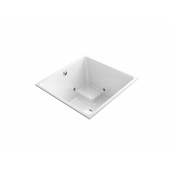 Underscore Cube 48 x 48 Drop-in VibrAcoustic and BubbleMassage Air Bathtub with Bask Heated Surface and Chromatherapy by Kohler