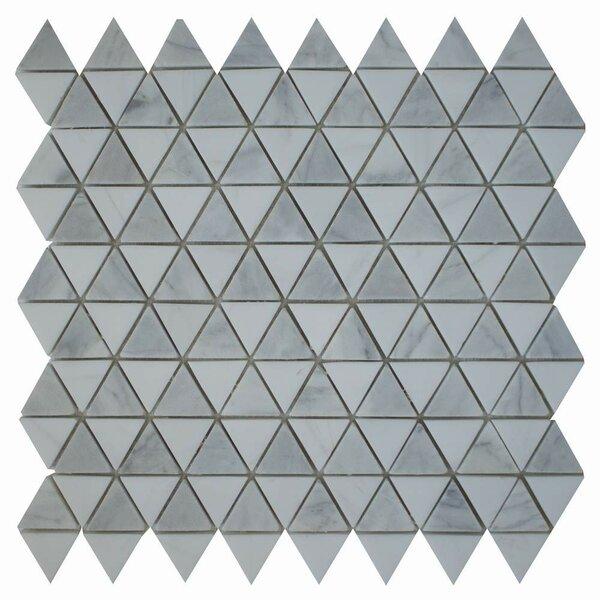 Diamantes 0.38 x 0.38 Marble Mosaic Tile in Carrara/ Bianco Dolomite by Ephesus Stones