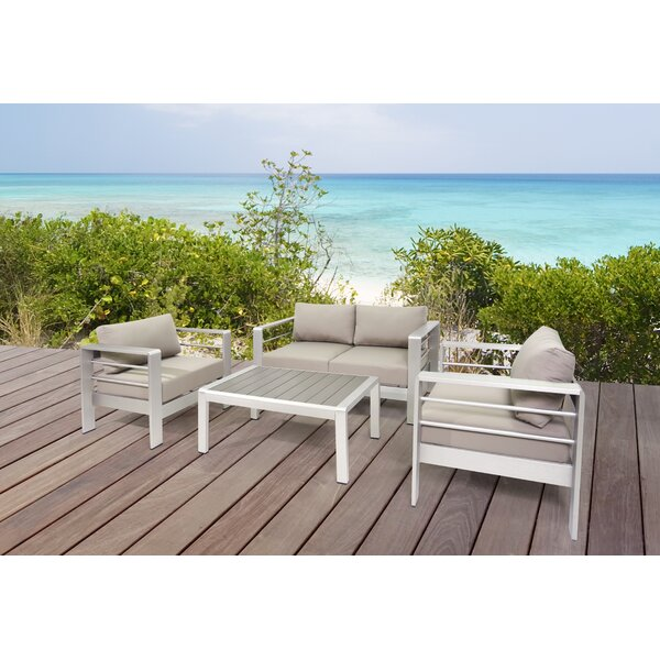 Susan Outdoor 4 Piece Sofa Seating Group with Cushions by Orren Ellis
