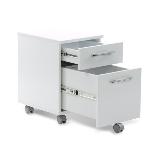 Tribeca 2-Drawer Mobile Pedestal Filing Cabinet by Haaken Furniture