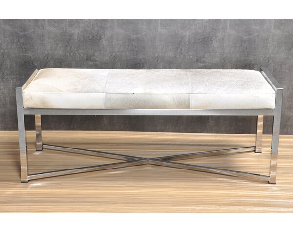 Gideoon Metal Bench by Everly Quinn