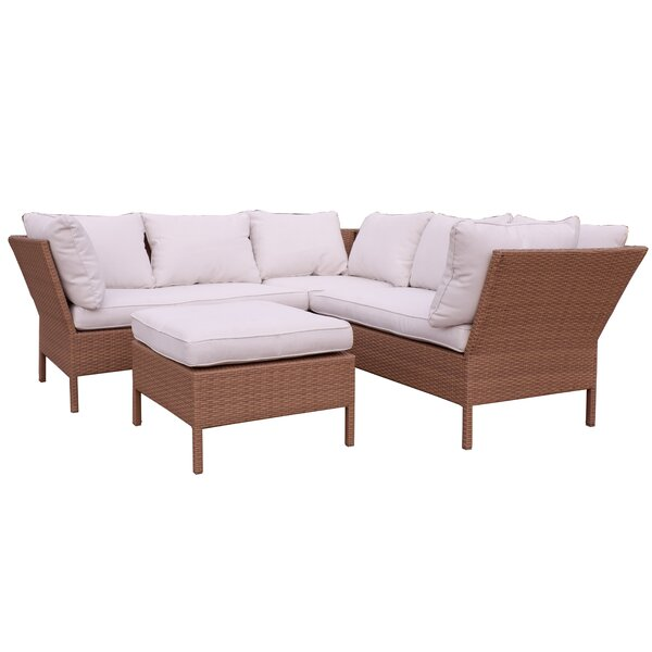 Wenger Mandalay Patio Sectional with Cushions by Highland Dunes