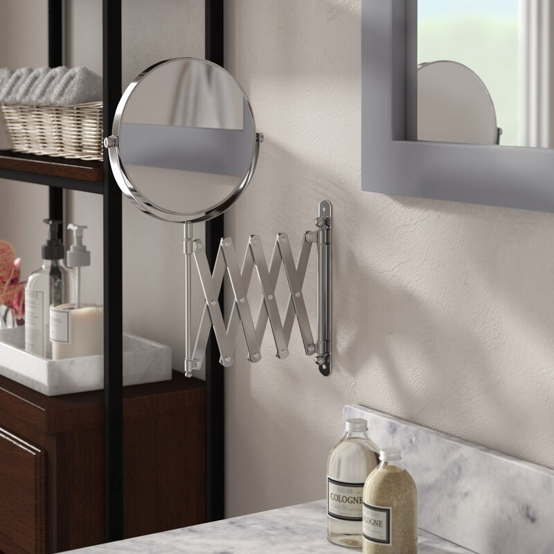 13 8 H X 23 75 W Extendable Wall Mount Magnifying Makeup Mirror