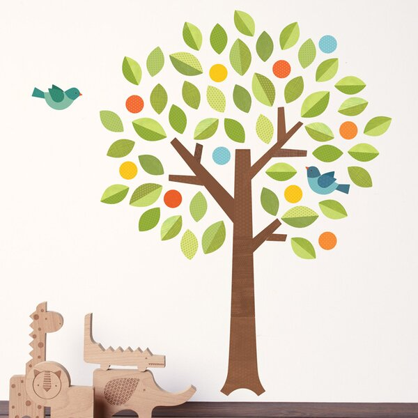Tree Polka Dot Wall Decal by Petit Collage
