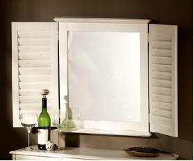 Check Prices Shutter Accent Mirror ByHickory Manor House