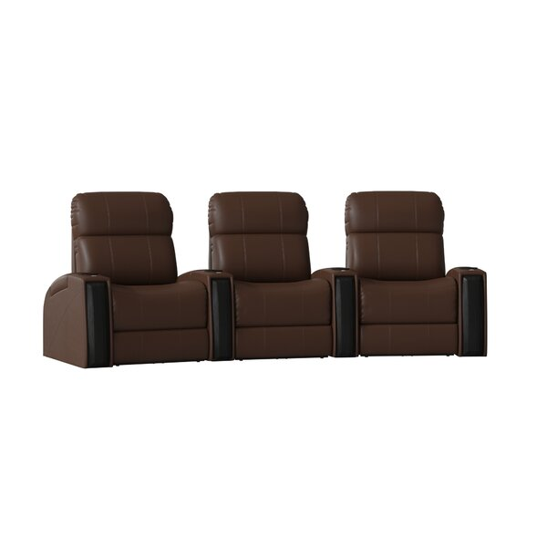 Contemporary Home Theater Curved Row Seating (Row Of 3) By Latitude Run