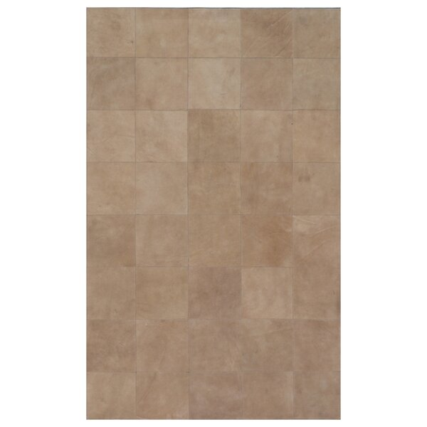 Suede Hand Woven Beige Area Rug by Exquisite Rugs