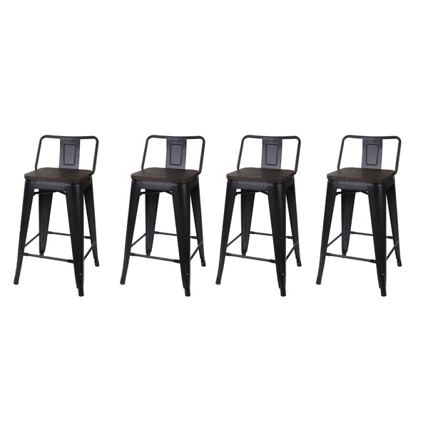 Alric 24 Bar Stool (Set of 4) by 17 Stories
