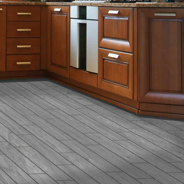 Planks ThinLine 6 x 24 Porcelain Wood Tile in Weathered Grey by SnapStone