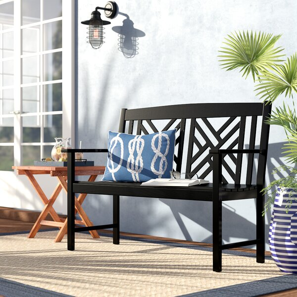 Katia Wood Garden Bench by Beachcrest Home