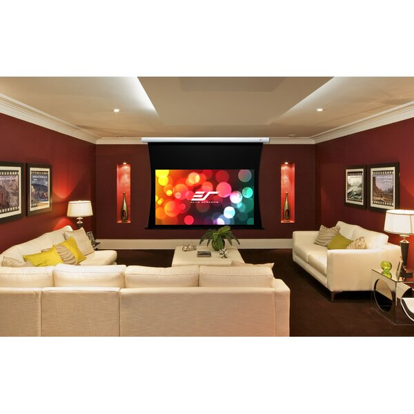 CineTension B Series White Electric Projection Screen by Elite Screens
