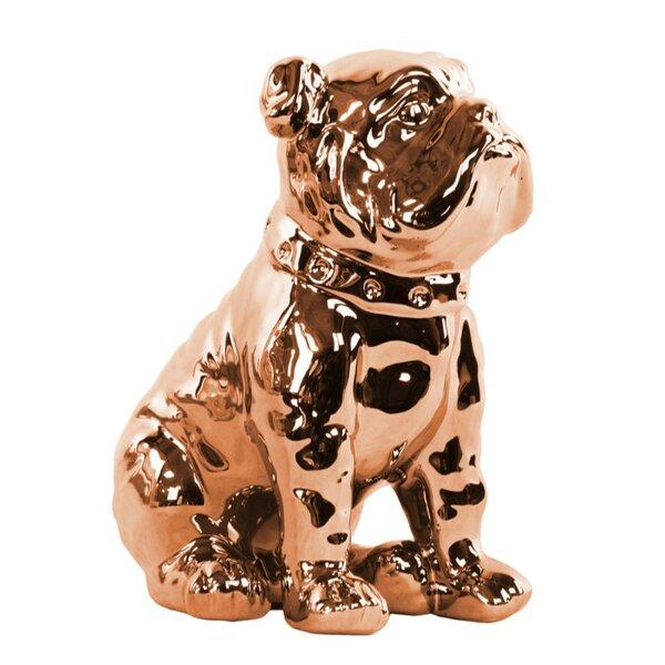 Thea Fine Crafted Sitting British Bulldog Figurine by Rosdorf Park
