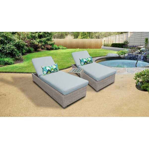 Rochford Outdoor Sun Lounger Set with Cushions and Table by Sol 72 Outdoor