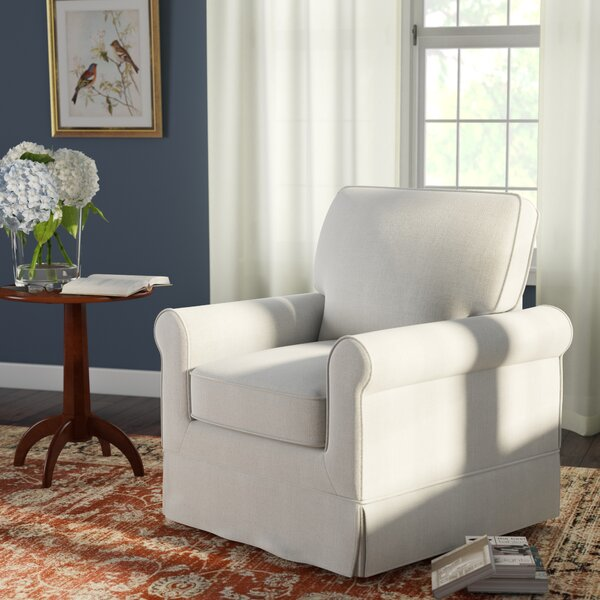 Schumann Swivel Armchair by Three Posts