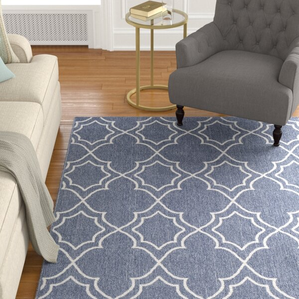 Gilead Trellis Charcoal/White Indoor/Outdoor Area Rug by Alcott Hill