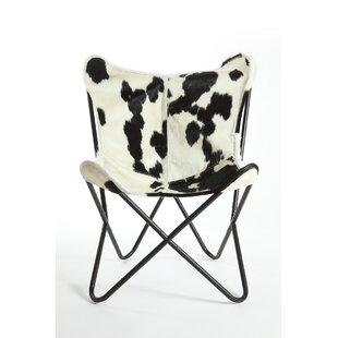 cowhide butterfly chair wayfair