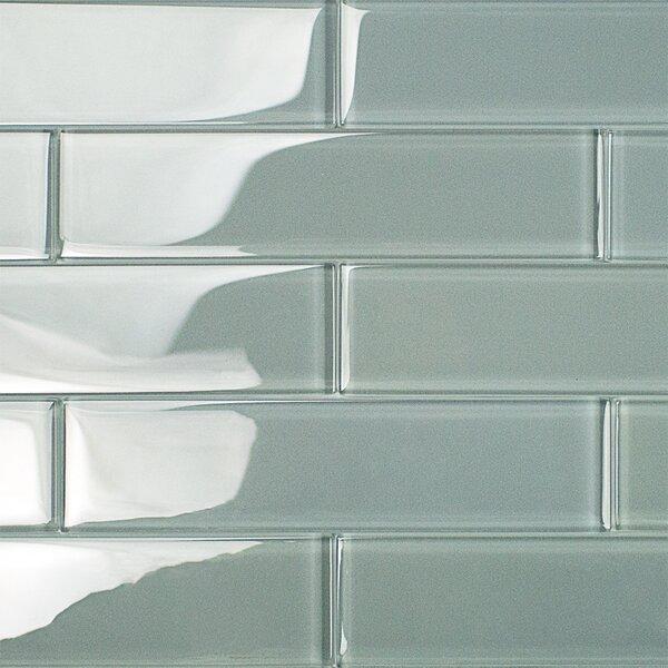 Contempo 2 x 8 Glass Subway Tile in Aspen Aura by Splashback Tile