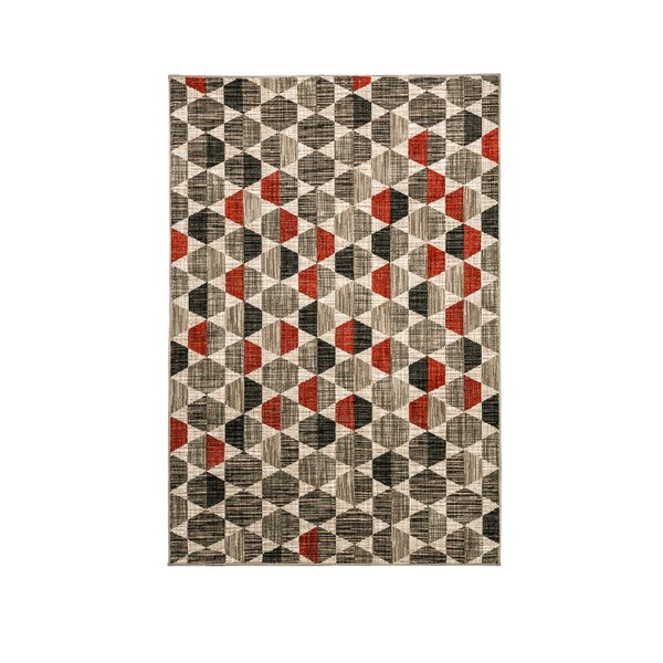 Croxton Gray/Brown Area Rug by George Oliver