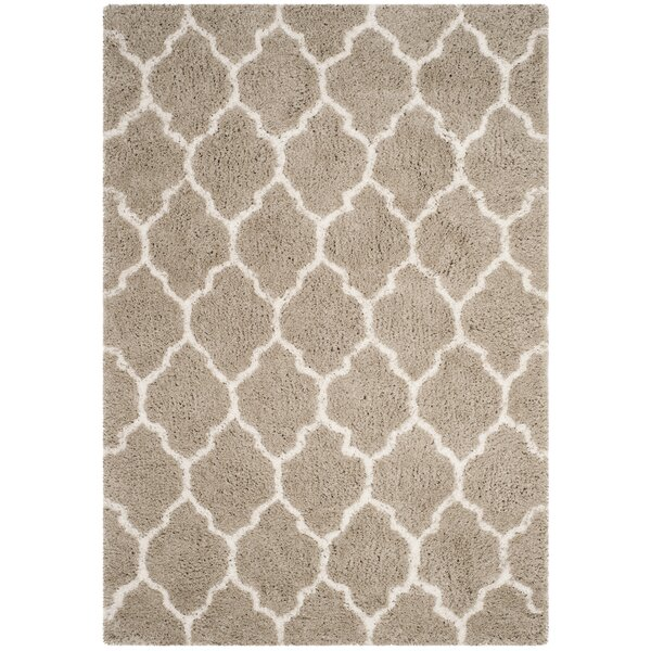 Parnassus Hand-Tufted Silver/Ivory Area Rug by Charlton Home