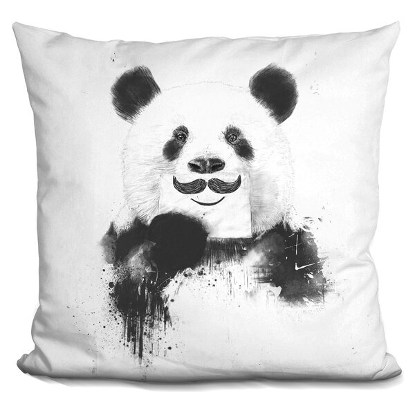 Funny Panda Throw Pillow by East Urban Home