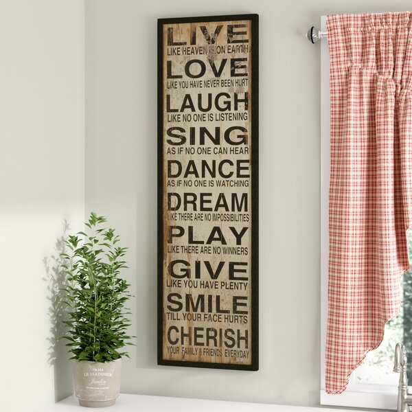 Live Love Laugh Textual Art Plaque by August Grove