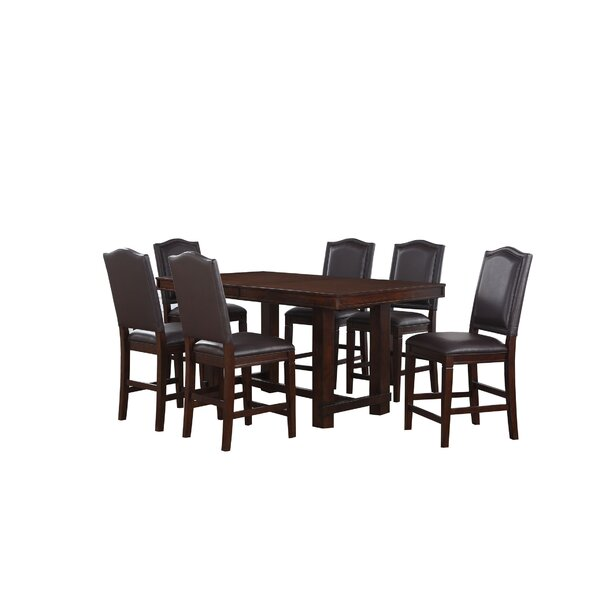 Manning 7 Piece Counter Height Dining Set by World Menagerie