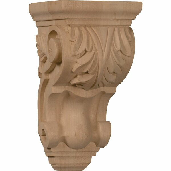 Acanthus 7H x 3 1/2W x 4D Small Traditional Corbel in Alder by Ekena Millwork
