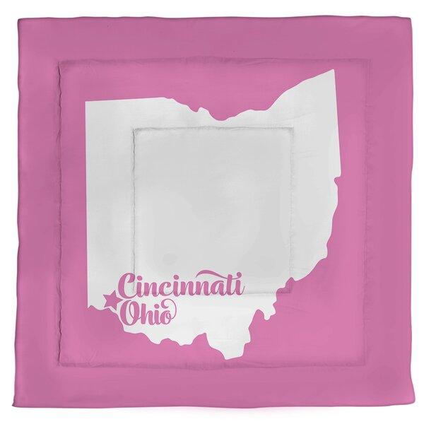 Ohio Cincinnati Single Reversible Comforter