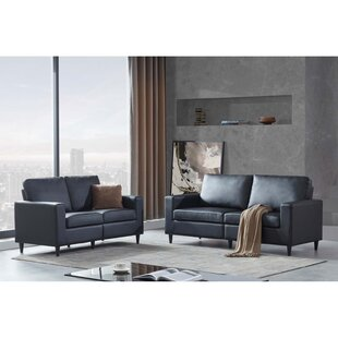 2 Piece PU Leather Upholstered Living Room Set by Latitude Run®