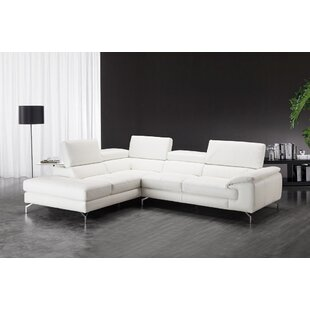 Best Price Atalaya Leather Sectional By Orren Ellis