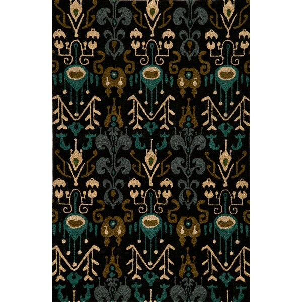 Elvera Hand-Tufted Black Area Rug by World Menagerie
