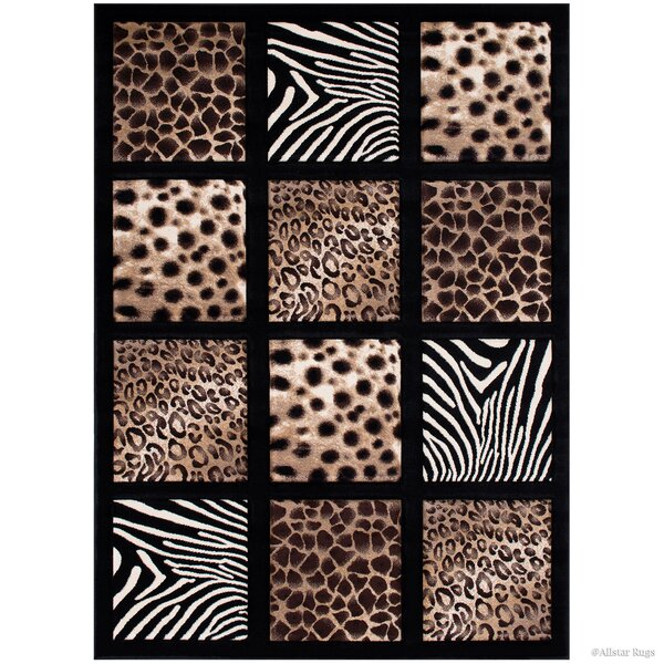 Black Area Rug by AllStar Rugs