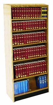 Outdoor Furniture Single Face Shelf Adder Standard Bookcase
