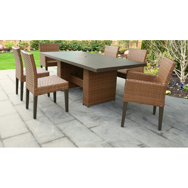 Laguna 7 Piece Outdoor Patio Dining Set with Cushions by TK Classics