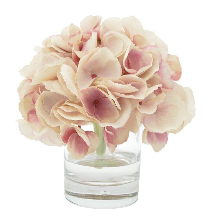 Ophelia & Co. Hydrangea Bouquet in Water Floral Arrangement ...